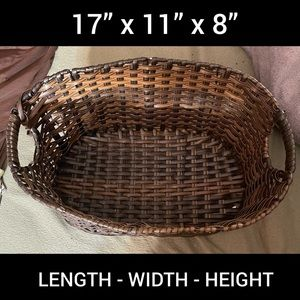 Wicker Basket - Gold and Silver